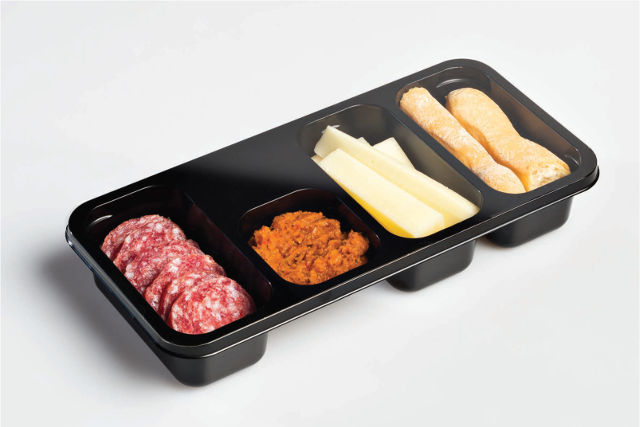 Airline food antipasti